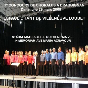CHŒUR ESPACE CHANT, 7° concours de chorales à Draguignan