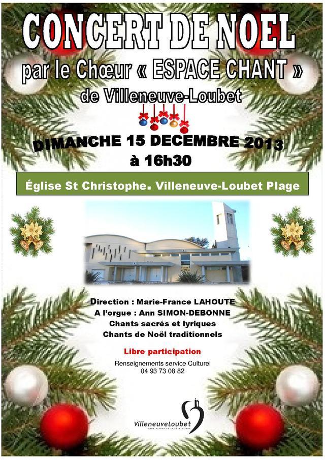 CHŒUR ESPACE CHANT, Concert de Noël
